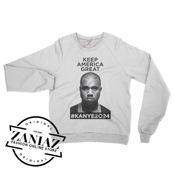 Kanye West Keep America Great Kanye2024 T Shirt Hip Hop Tee Rap merch New Black