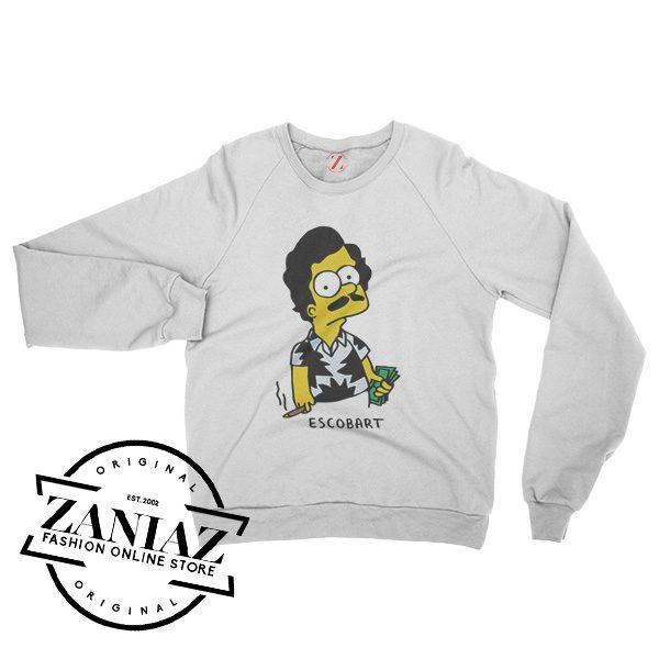 Pablo Escobart Simpson Sweatshirts For Women's or Men's Size S-3XL