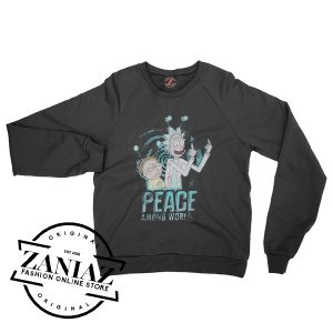 Rick And Morty Peace Among Wordls Sweatshirt Crewneck Size S-3XL