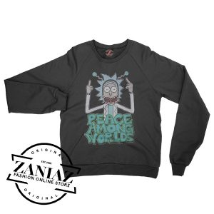 Rick And Morty Peace Among Worlds Sweatshirt Crewneck Size S-3XL