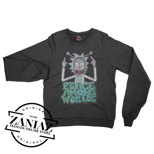 Rick And Morty Peace Among Worlds Sweatshirt Crewneck Size S-3XL