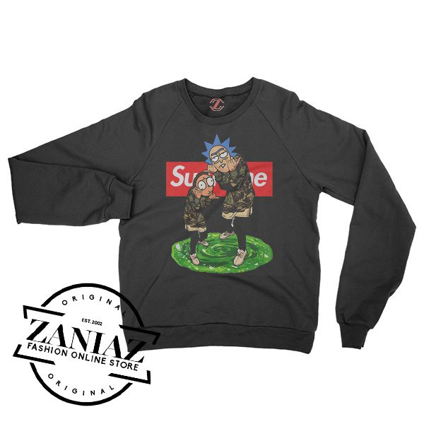 Rick And Morty Supreme Sweater Unisex Crewneck Size S-3XL