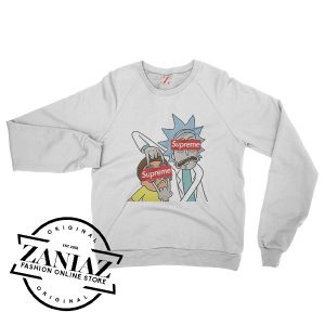 Rick and Morty Supreme Sensors Crewneck Sweatshirt Size S-3XL