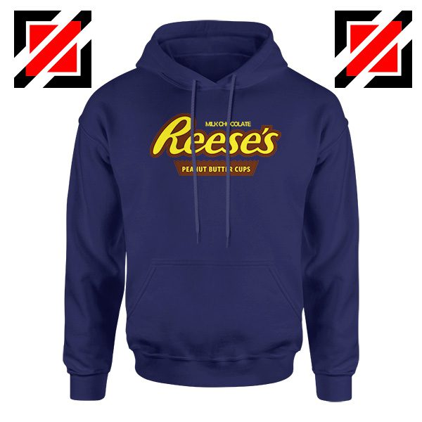 Hoodie Navy BLue Reeses Peanut Butter Cups Hoodies Adult Unisex
