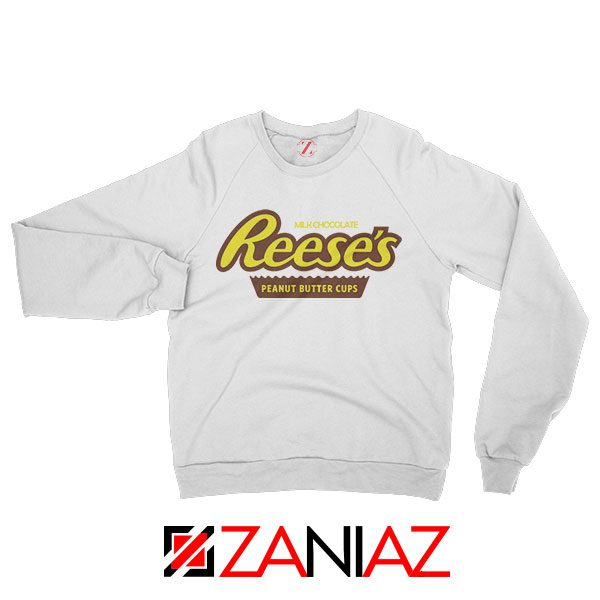 Reeses Peanut Butter Cups White Sweatshirt Hershey Funny Size S-3XL