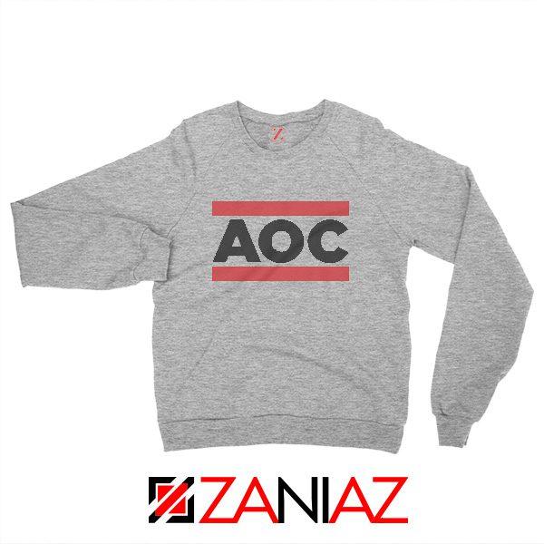 Alexandria Ocasio Sweatshirt Feminist Gift Sweater Size S-3XL Sport Grey
