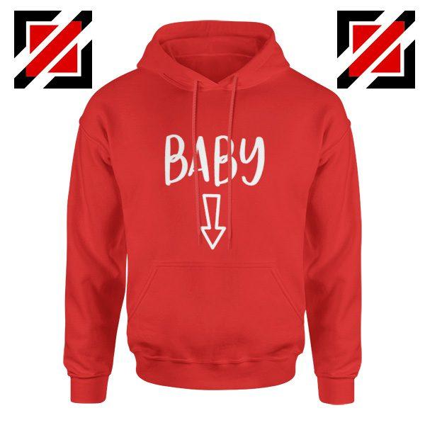 Baby Belly Hoodie Cheap Pregnancy Hoodie Funny Gift Hoodies Unisex Red