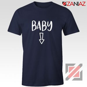Baby Belly Shirt Cheap Clothes Shop Funny Quotes T-shirt Navy Blue