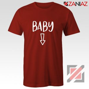 Baby Belly Shirt Cheap Clothes Shop Funny Quotes T-shirt Red