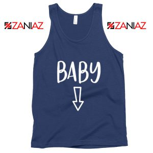 Baby Belly Tank Top Funny Gift Cheap Pregnancy Tank Top Navy