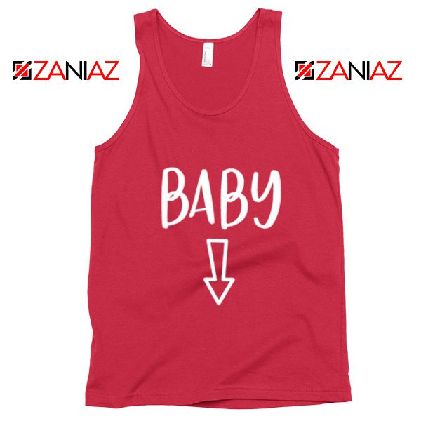 Baby Belly Tank Top Funny Gift Cheap Pregnancy Tank Top Red