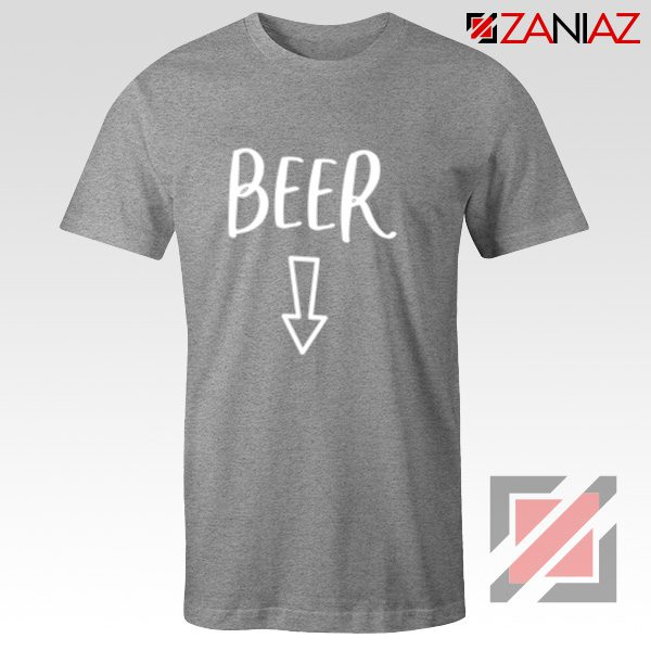 Beer Belly Shirt Cheap Clothes Shop Funny Quotes T-shirt Grey