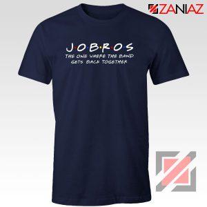 Jobros Navy Blue Tshirt Funny Friends Themed Concert Cheap Tshirt Clothes