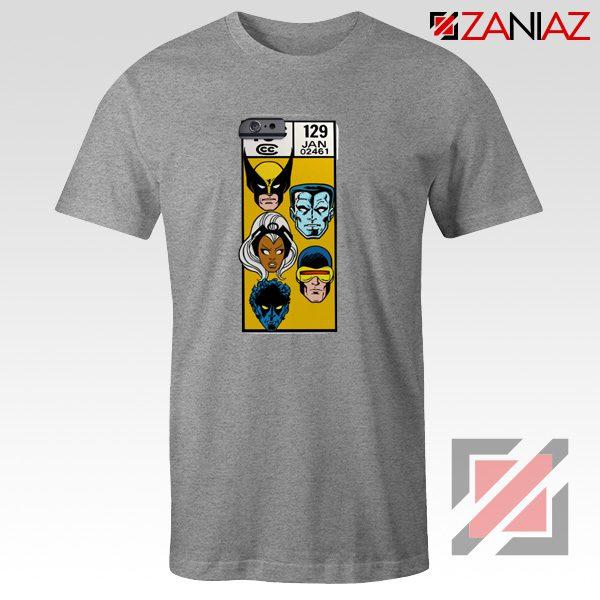 Marvel X Men Shirt Cheap Clothes Comic Book 129 Jan T-shirt Grey