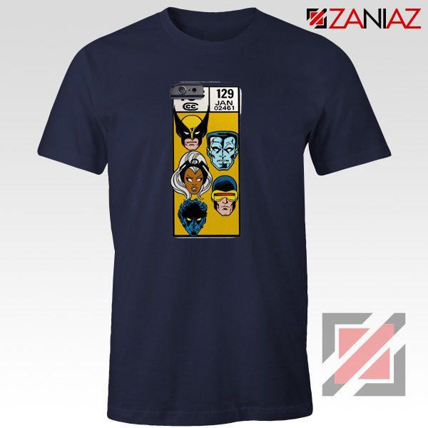 Marvel X Men Shirt Cheap Clothes Comic Book 129 Jan T-shirt Navy Blue