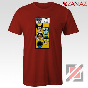 Marvel X Men Shirt Cheap Clothes Comic Book 129 Jan T-shirt Red