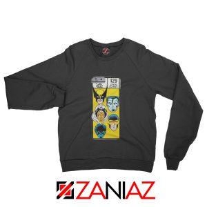 Marvel X Men Sweatshirt Marvel Comic 129 Jan Sweater Size S-3XL Black