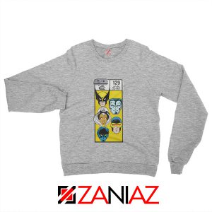 Marvel X Men Sweatshirt Marvel Comic 129 Jan Sweater Size S-3XL Grey