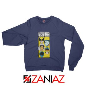 Marvel X Men Sweatshirt Marvel Comic 129 Jan Sweater Size S-3XL Navy Blue