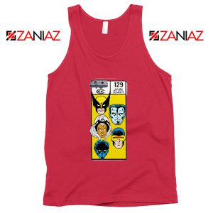 Marvel X Men Tank Top Funny Cheap Comic Book 129 Jan Tank Top Red