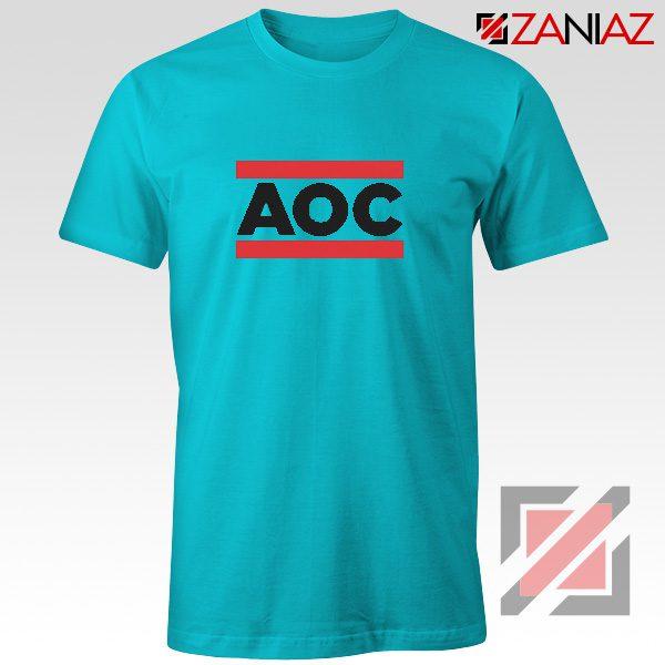 Ocasio Cortez T-Shirt Cheap Tshirt Feminist Clothes Anti Trum Blue