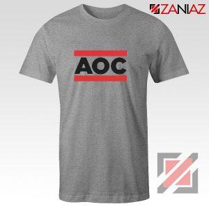 Ocasio Cortez T-Shirt Cheap Tshirt Feminist Clothes Anti Trum Sport Grey