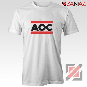 Ocasio Cortez T-Shirt Cheap Tshirt Feminist Clothes Anti Trum White