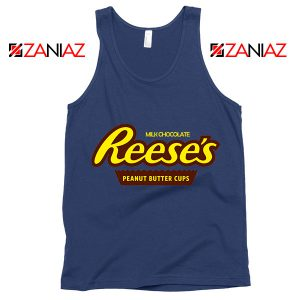 Reeses Peanut Butter Cups Navy Tank Top Reeses Logo Tank Top