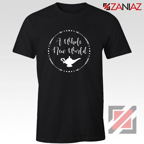 A Whole New World Disney T-Shirt Aladdin Jasmine Cheap Shirt Black