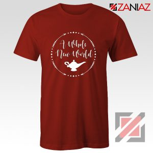 A Whole New World Disney T-Shirt Aladdin Jasmine Cheap Shirt Red