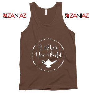 A Whole New World Disney Tank Top Aladdin Jasmine Tank Top Brown