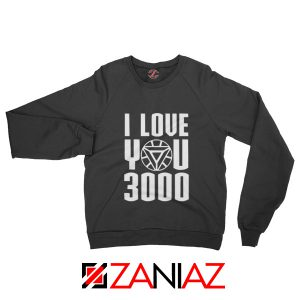 Avengers Endgame Sweater I love You 3000 Times Sweatshirt Unisex Black