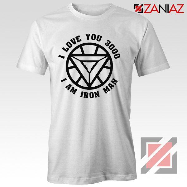 Avengers Endgame T Shirt I love You 3000 Times Tony Stark T-Shirt White