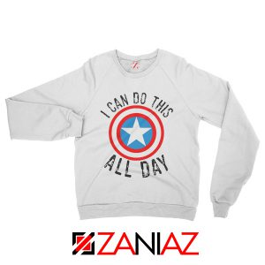 Avengers Sweater I Can Do This All Day Sweatshirt Unisex White