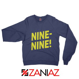 Brooklyn Nine Nine Sweatshirt Cheap America TV Show Sweater Navy Blue