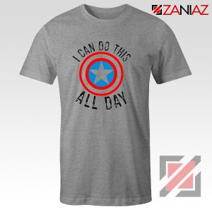 Captain America Gift T shirt I Can Do This All Day T-Shirt Sport Grey