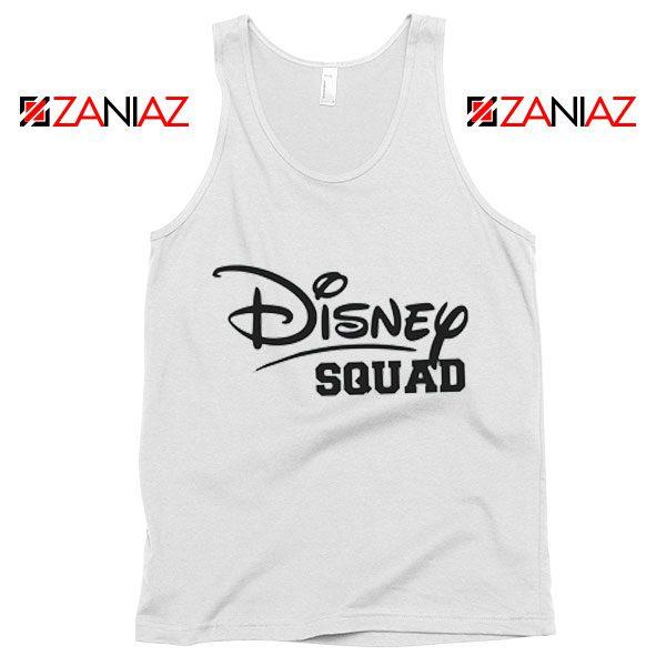 Cheap Disney Squad Tank Top Birthday Gift Summer Tank Top White