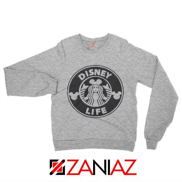 Cheap Disney Starbucks Coffee Sweatshirt Cute Disney Sweatshirt Grey