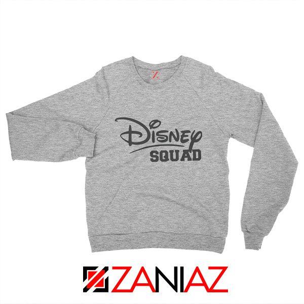 Disney Squad Sweatshirt Disney Family Birthday Gift Sweatshirt Grey