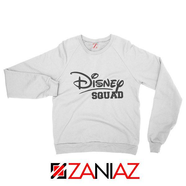 Disney Squad Sweatshirt Disney Family Birthday Gift Sweatshirt White
