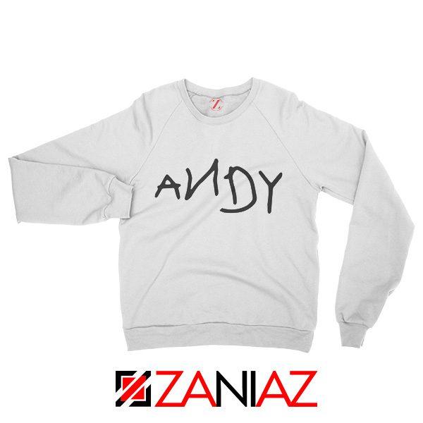 Disney Toy Story Andy Sweatshirt Birthday Gift Sweater for Man White