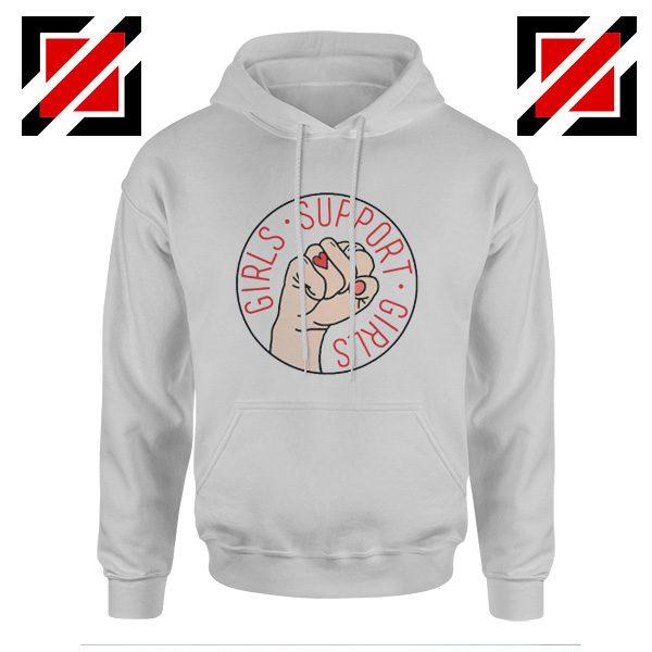 Feminist Hoodie Girls Support Girls Hoodie Cheap Girl Power SPort Grey