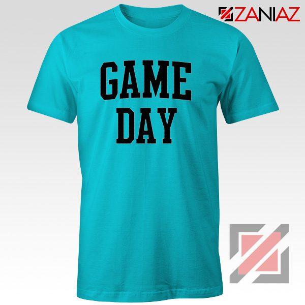 Football Shirt Gift Game Day T-Shirt Women's Football Shirt Blue