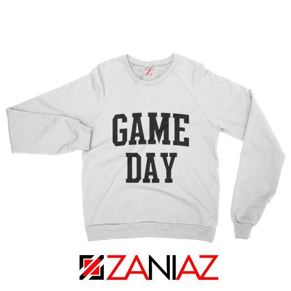 Football TV Program Sweater Game Day Sweatshirt Unisex White