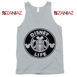 Funny Disney Starbucks Tank Top Summer Birthday Gift Tank Top New Silver