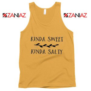 Funny Tank Top Kinda Sweet Kinda Salty Cheap Tank Top Shunsihe