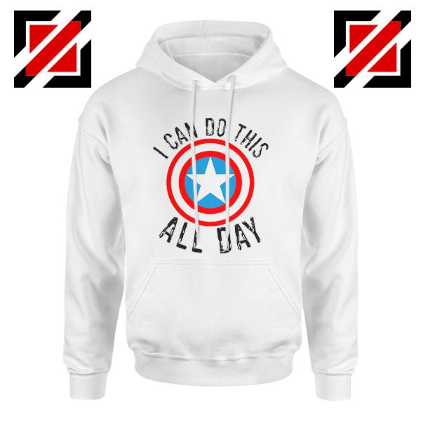 I Can Do This All Day Gift Hoodies Unisex Captain America White