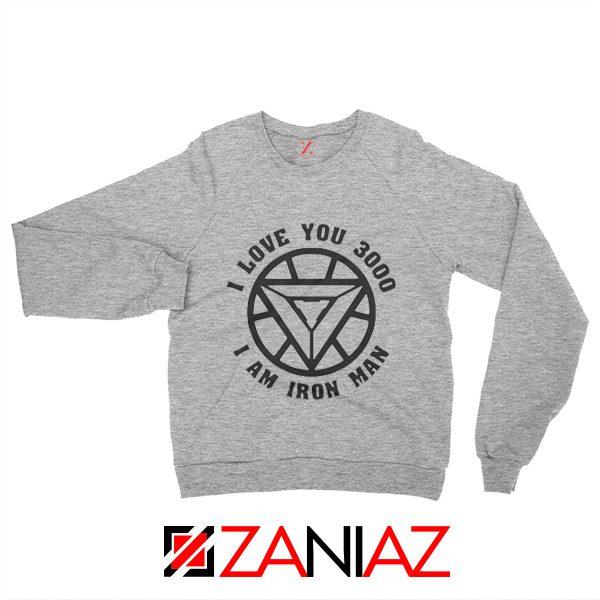 I love You 3000 Times Sweatshirt Tony Stark Sweater Unisex Sport Grey
