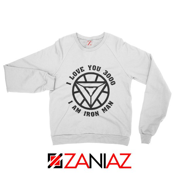 I love You 3000 Times Sweatshirt Tony Stark Sweater Unisex White