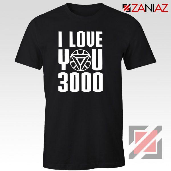 Iron Man T-Shirt Avengers Endgame T Shirt I love You 3000 Times Black